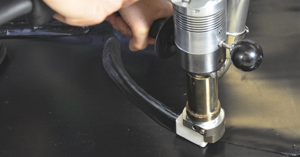 Extrusoras y dispositivos de aire caliente para soldar tubo